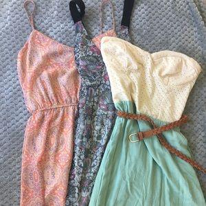 3 Charlotte Russe Summer Dresses